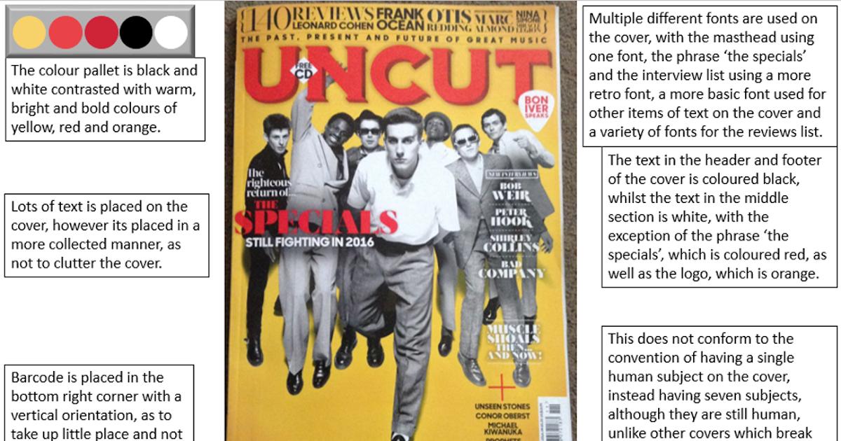 media coursework magazine