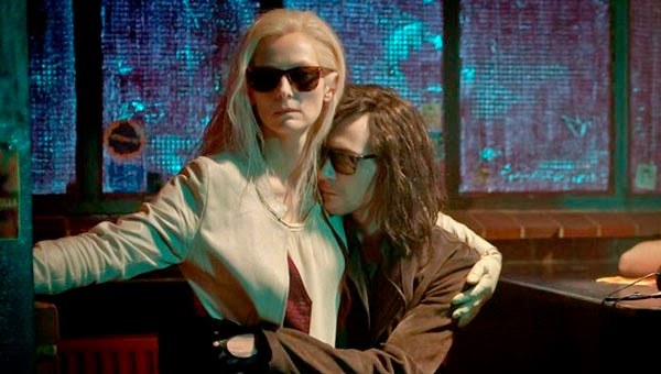 "Tilda Swinton & Tom Hiddleston in ""Only the lovers left alive """