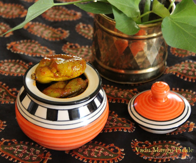 images of Maavadu Recipe / Mavadu Pickle Recipe / Vadu Mangai Recipe / Vadu Mango Pickle Recipe