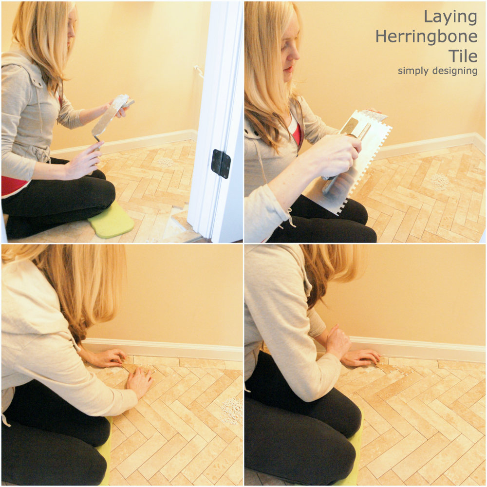 How to Tile a Herringbone Floor | a complete tutorial for laying tile flooring and herringbone tile flooring | #diy #herringbone #tile #tilefloors #thetileshop @thetileshop