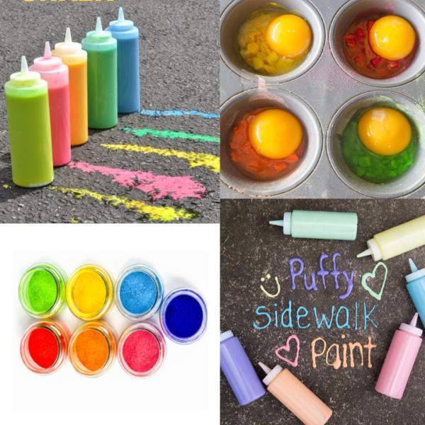 TONS of creative ways for kids to play with sidewalk chalk including recipes, crafts, experiments, and more! #chalkartkids #chalkpaint #chalkrecipe #chalkrecipesforkids #chalkactivitiesforkids #chalkexperimentsforkids #sidewalkchalkrecipe #sidewalkchalkideas #sidewalkchalk #activitiesforkids #growingajeweledrose