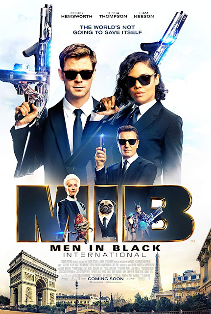 Movie poster for Sony Pictures Entertainment's 2019 film Men in Black: International