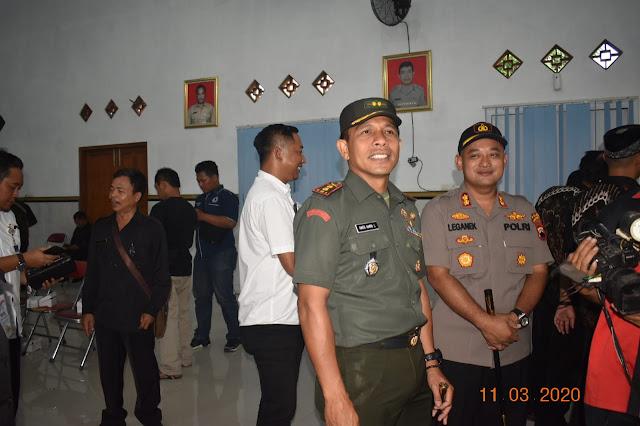 KodimKaranganyar - Dandim Pantau Langsung Jalannya Pilkades Serentak Gelombang III Kabupaten Karanganyar