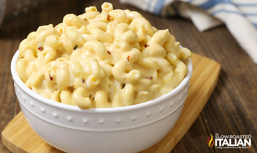 crock pot macaroni and cheese recipe with cheddar cheese soup