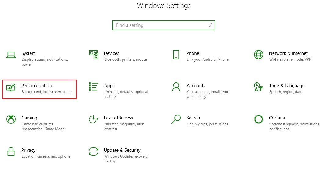 How to make start menu full-screen in windows 10