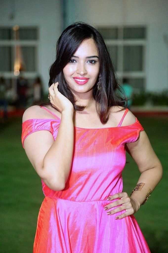 Poojitha at Darshakudu Movie Audio Launch Event Gallery