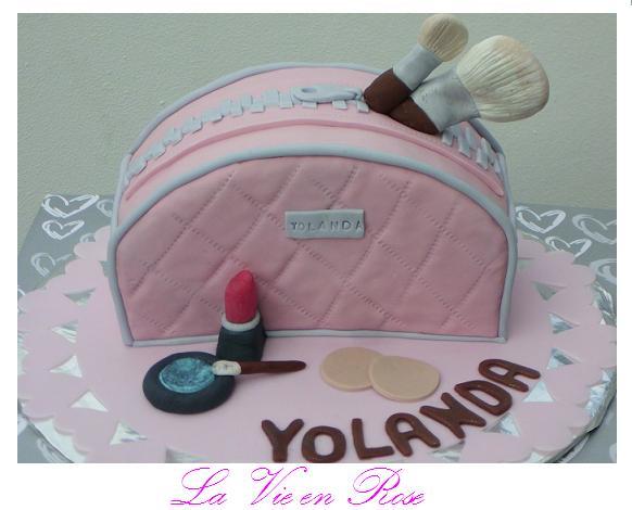 La Vie En Rose Tarta Neceser Maquillaje
