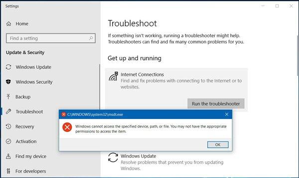 windows no tiene acceso al dispositivo puede que no tenga los permisos apropiados