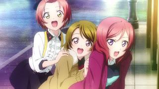 Rin, Maki and Hanayo perform Hello, Hoshi o Kazoete