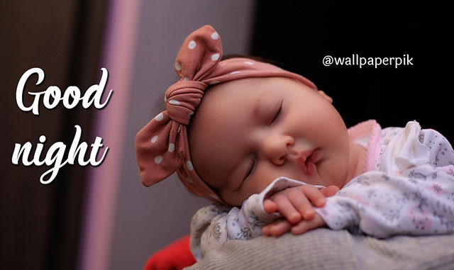 cute baby girl  good night images free download