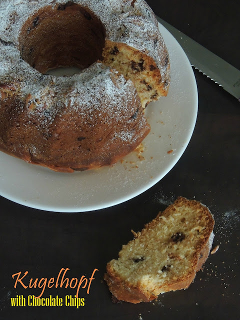 Kouglof,Kugelhopf with Chocolate Chips,