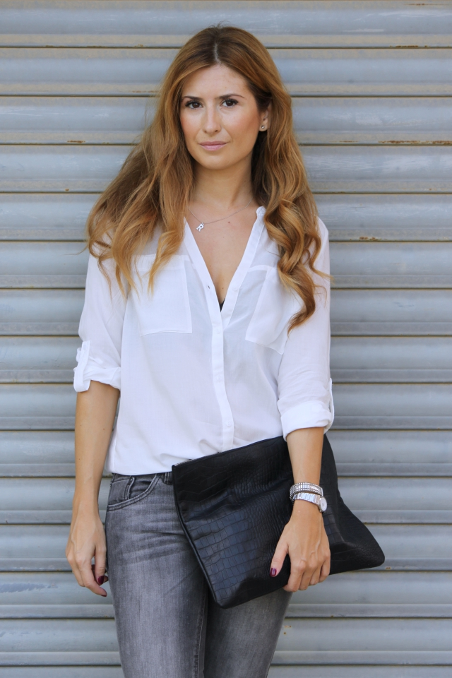 e77d77beed GREY JEANS   WHITE BLOUSE