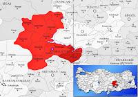 Pütürge ilçesinin nerede olduğunu gösteren harita