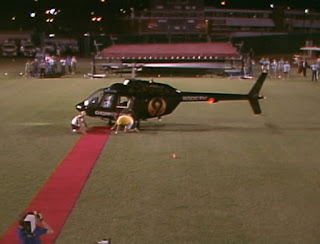NWA Great American Bash 1986 (Charlotte, July 5th) - Ric Flair arrived in a helicopter for his match with Ricky Morton