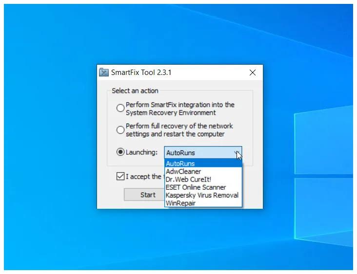 SmartFix : Επιδιορθώστε τον υπολογιστή σας μετά από μόλυνση  από άγνωστο κακόβουλο λογισμικό