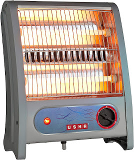Usha Quartz Room Heater (3002) 800-Watt with Overheating Protection