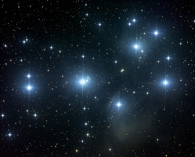 M45 - The Pleiades located in the constellation Taurus imaged by Plymouth South Middle School students Taylor A. and Kyleigh O. using ATEO-1 via Insight Observatory's online Educational Image Request (EIR) application.