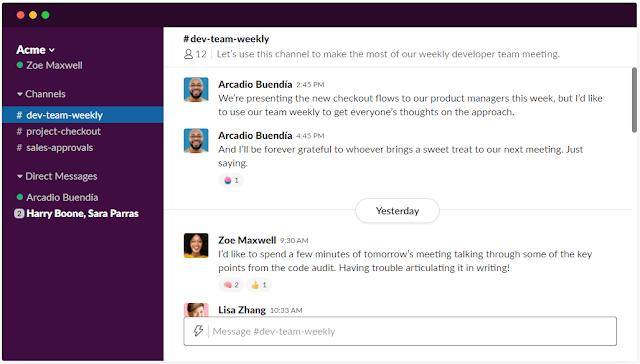 Slack成員可以建立一個個「頻道」,來進行溝通協作(圖片:Slack官網)。