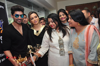 Bollywood Actress Sana Khan Launches Aakrithi Exibition  0301.JPG