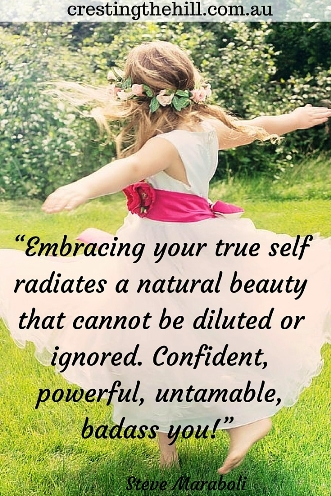 Embracing your true self radiates a natural beauty that can't be ignored. Steve Maraboli #quotes
