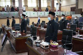 Wabup Muba Hadiri Rapat Paripurna Penyampaian Hasil Reses II DPRD Tahun 2021