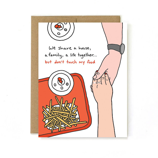 Food-Themed Valentine's Day Cards -- Don't Touch My Food