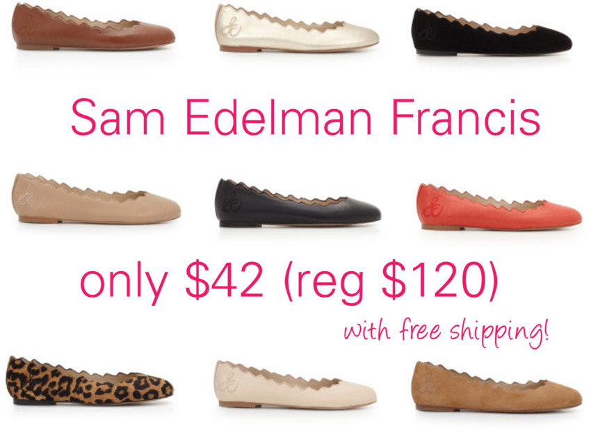 Sam Edelman: Francis Flats only $42 (reg $120) + Free Shipping!