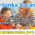 Vacancies In Sri Lanka  Post Of Qualified retied primary school teacher for tuition
