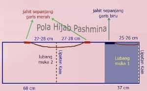 Pola Hijab Pashmina Sederhana