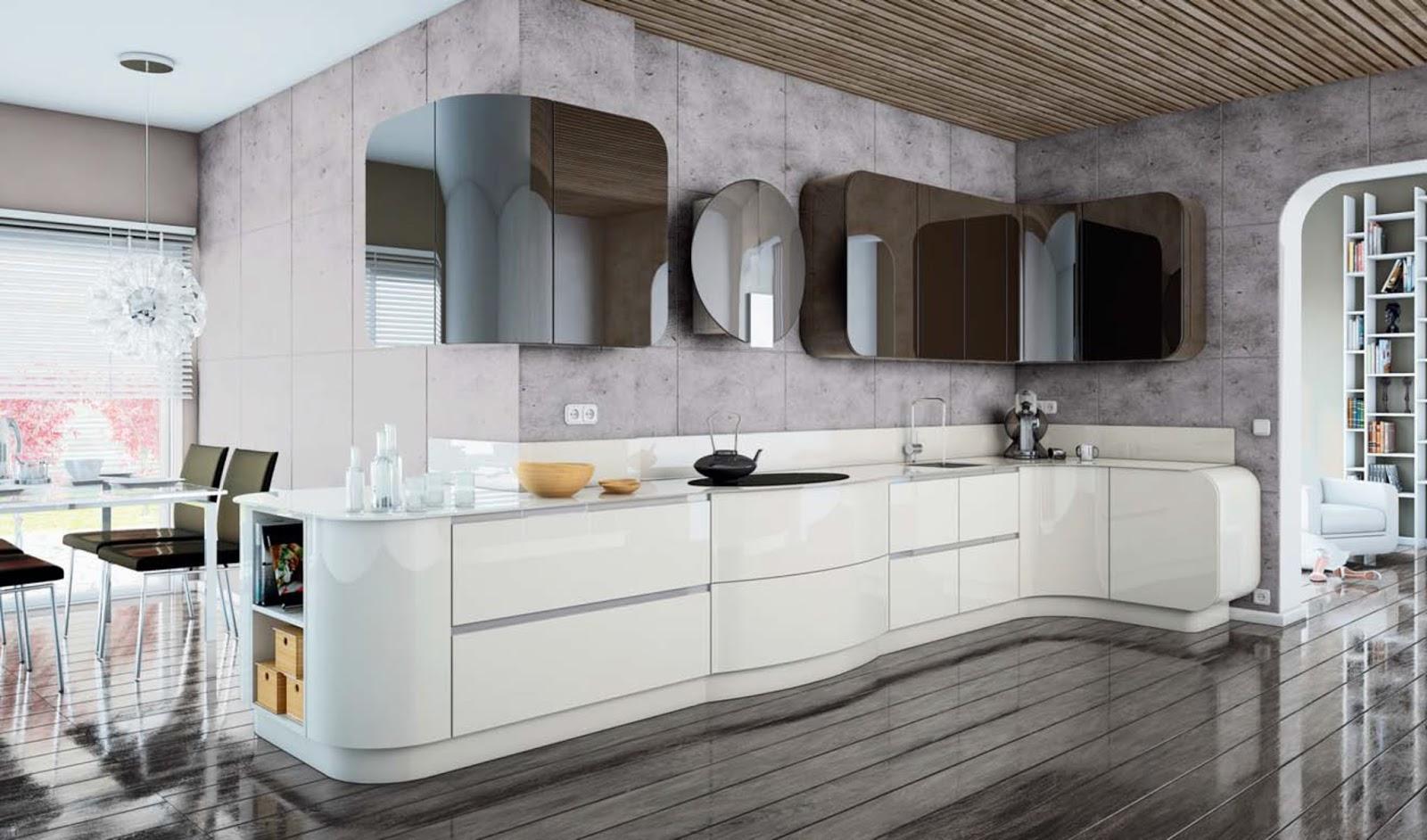Diseño muebles de cocina: Cocina lacada en blanco y negro ...