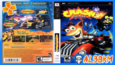 لعبة سباق كراش Crash tag team racing لمحاكي PPSSPP