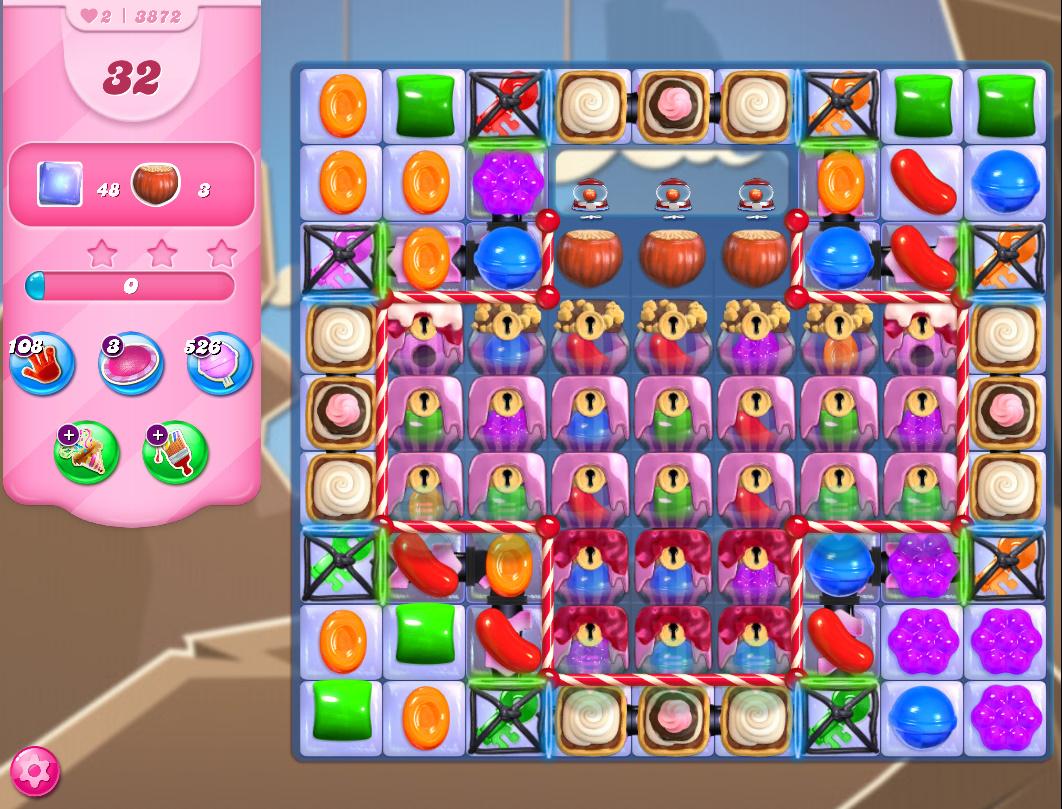 Candy Crush Saga level 3872