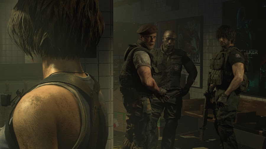resident evil 3 remake umbrella biohazard countermeasure service u.b.c.s. members carlos oliveira mikhail victor tyrell patrick S.T.A.R.S. member jill valentine capcom survival horror classic nemesis tyrant bioweapon pc steam ps4 xb1