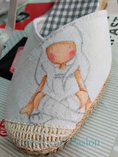 Zapatos-esparto-Gorjuss-color-piel-pintura-en-tela-Crea2-con-Pasión