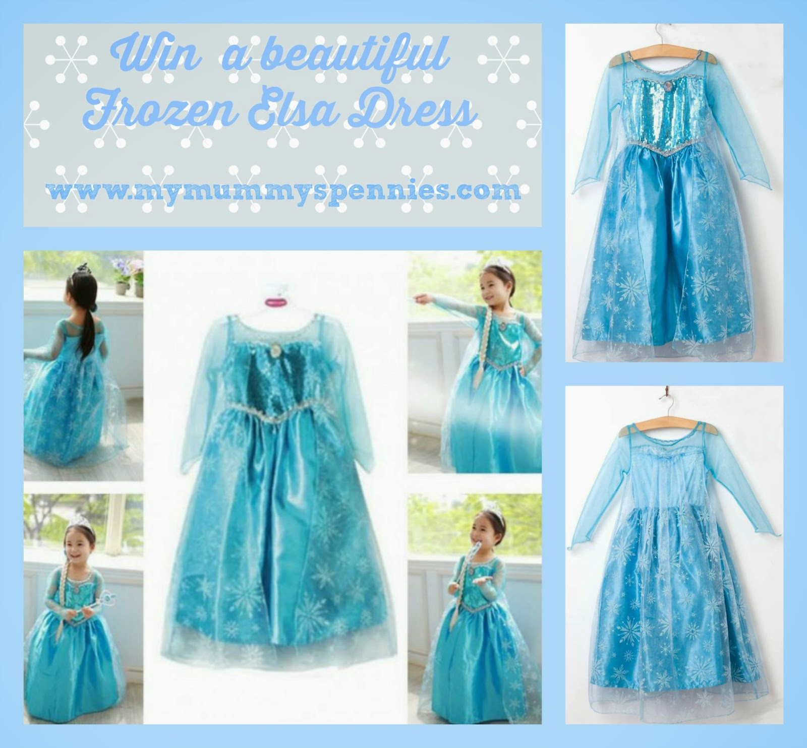 Win a frozen Elsa Dress - www.mymummyspennies.com