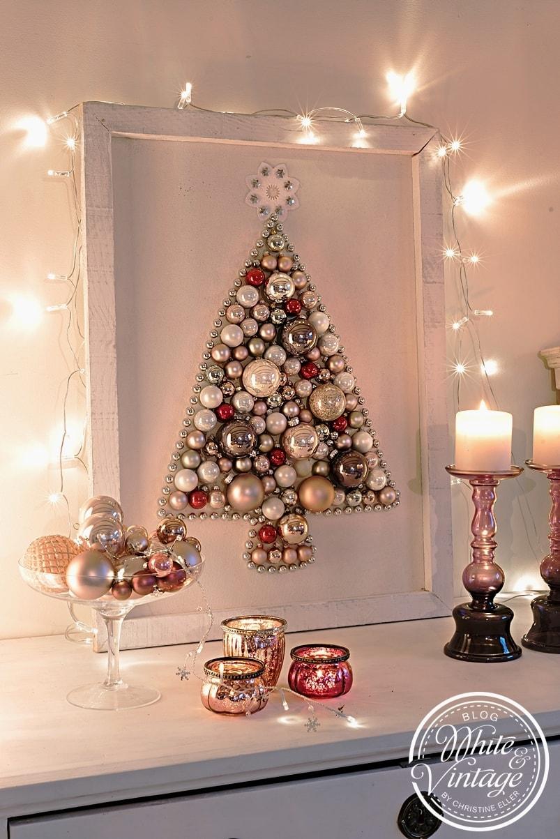 Kreativer Weihnachtsbaum aus Kugeln basteln