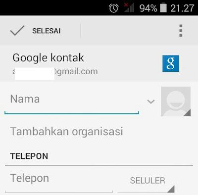 Cara menyimpan / mencadangkan kontak telepon di server gmail