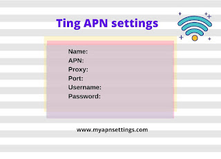 Ting APN settings