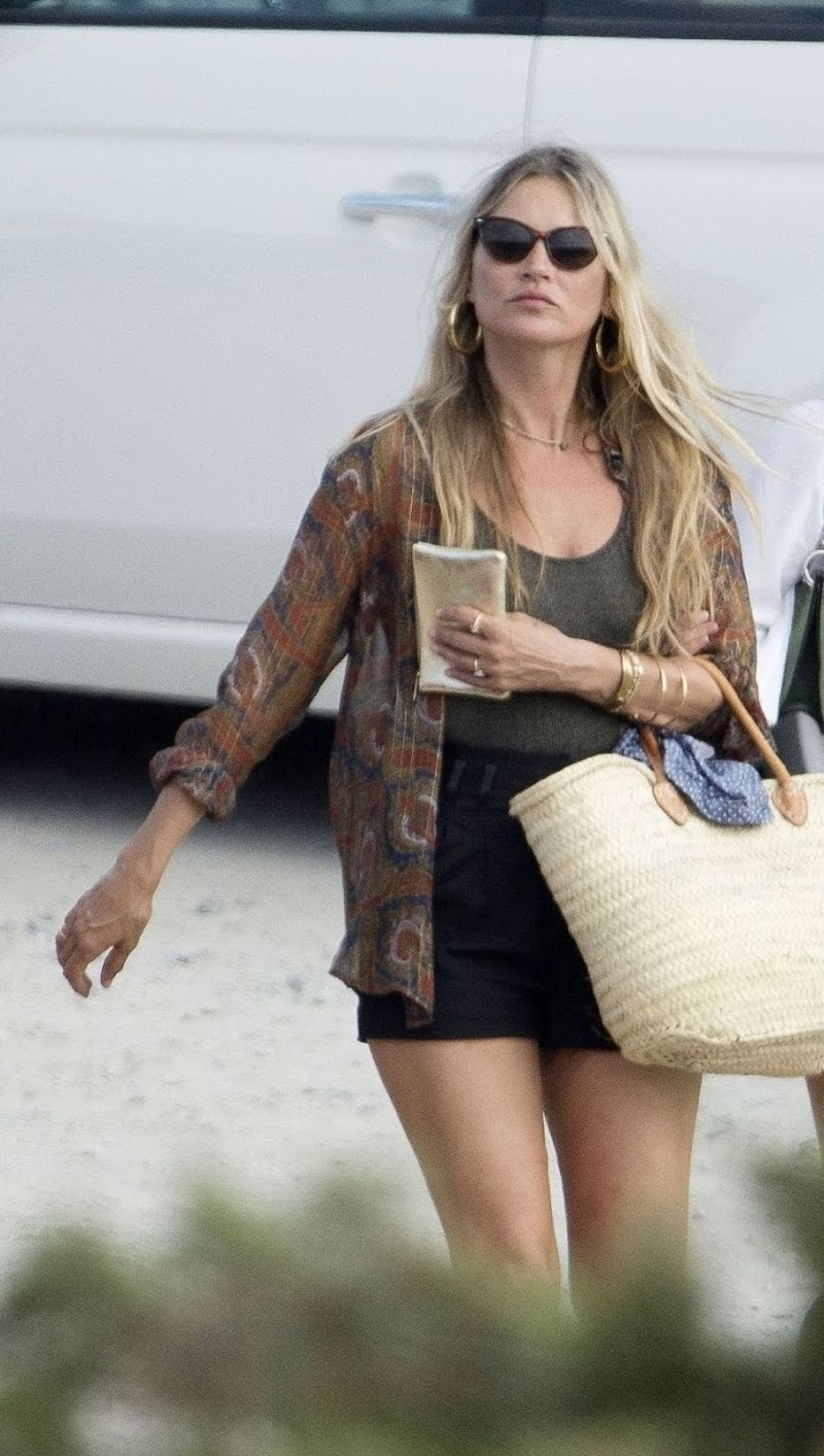Kate Moss  Out for Lunch in Ibiza 2 Aug -2020