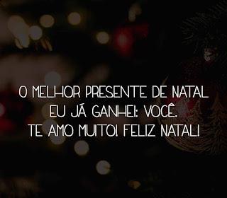 Te amo muito! Feliz Natal!