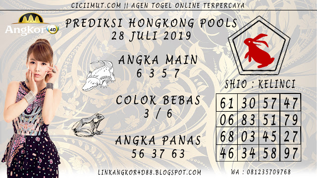 PREDIKSI HONGKONG POOLS 28 JULI 2019