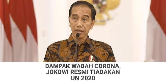 Jokowi Resmi Putuskan UN 2020 Ditiadakan