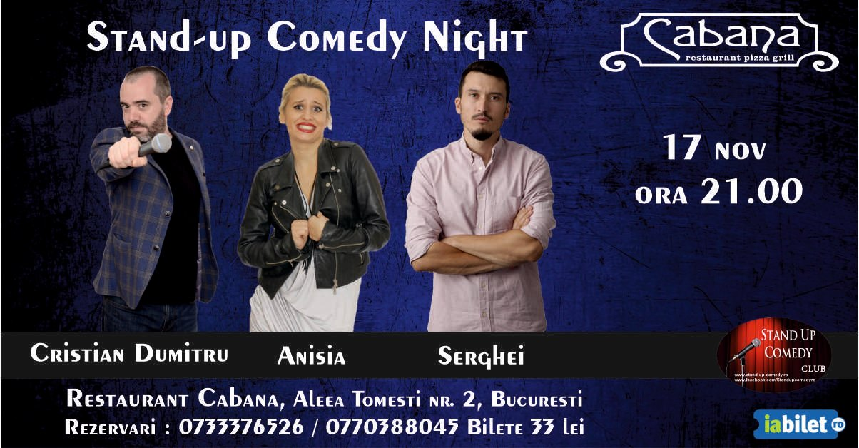 Stand-Up Comedy Bucuresti Duminica 17 noiembrie2019