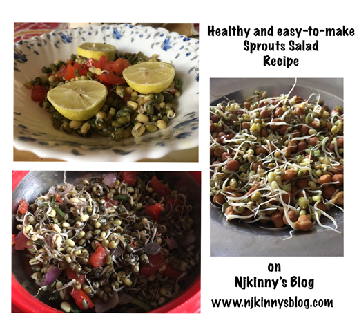 Eat healthy with this easy-to-make Sprouts Salad Recipe #FoodieFriday on Njkinny's Blog