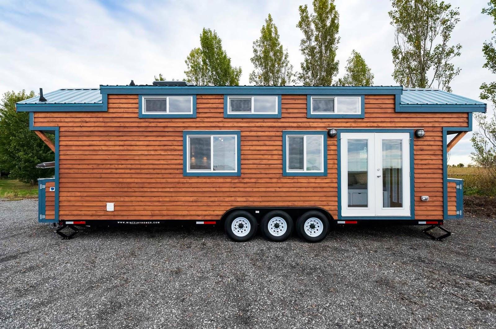Tiny house town custom 30 39 mint tiny home for Tiny home companies
