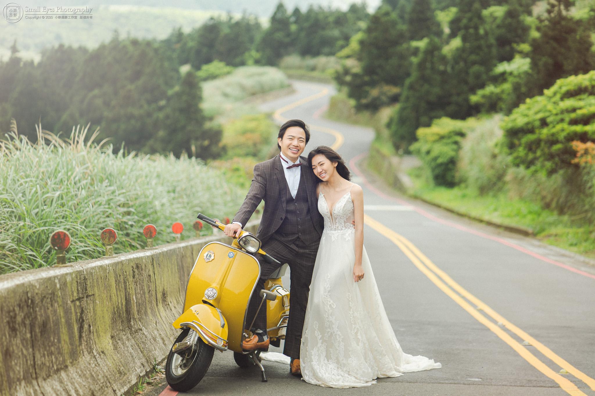小眼攝影,婚紗攝影,婚攝,吉兒婚紗,新秘瓜瓜,自助婚紗,自主婚紗,台灣,台北,陽明山,偉士牌,Vespa,機車,摩托車
