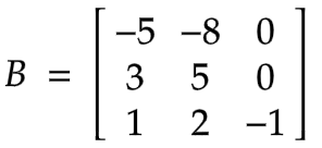 Example of 3 x 3 involutory matrix