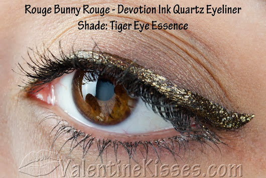 Valentine Kisses: Rouge Bunny Rouge Devotion Ink Quartz Eyeliner in Tiger Eye Essence - pics, swatches, review