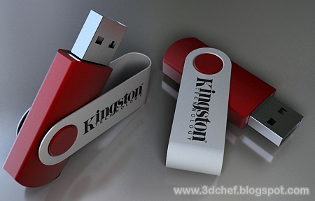 modeling usb disk using 3ds max