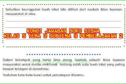 Kunci Jawaban Buku Siswa Tema 3 Kelas 5 Halaman 90, 93